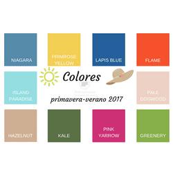 Colores que se llevan esta temporada primavera-verano 2017