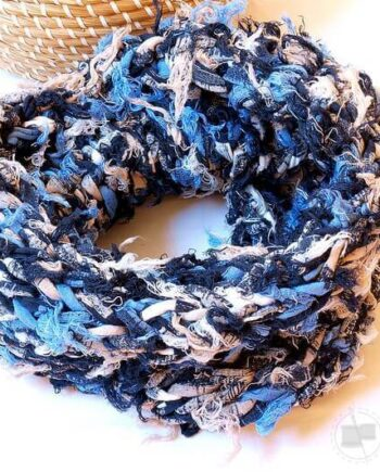Handmade recycled cotton tubular scarf