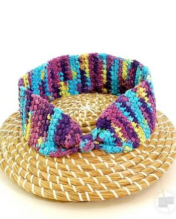 Multicoloured woven boho band
