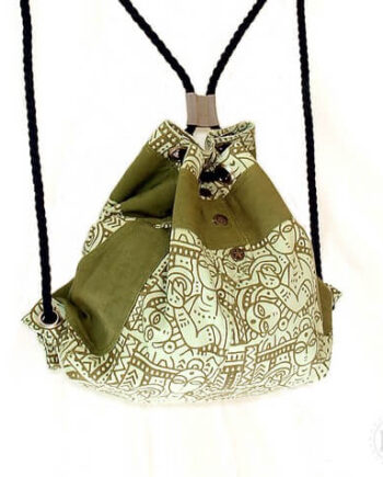Organic cotton rope backpack